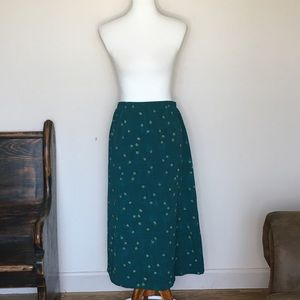 Classics by Jantzen Flower Print Maxi Skirt